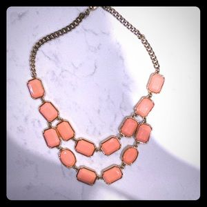 3/$15 Coral Geometric Necklace